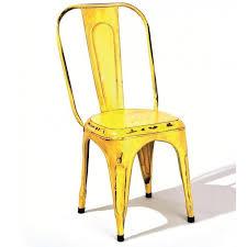 chaise m tal industriel chaise achat chaise métal indus jaune