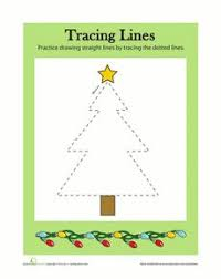tracing lines christmas worksheets christmas and student