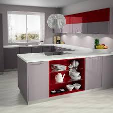 cuisine blanche et grise cuisine blanche et rouge gallery of la cuisine les petites