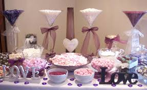 candy bar baby shower bathroom purple and white wedding candy buffet ideas table