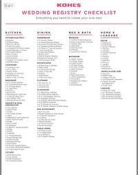 kohl wedding registry wedding to do list checklist accessoires pour réussir votre