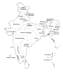 India Map With States by Map Of India G3