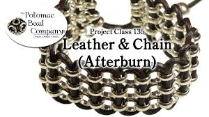 chain bracelet with leather images How to make a leather chain afterburn bracelet project class jpg