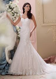 Ivory Wedding Dresses Flowing Floral Lace Straps Ivory Blush Chapel Train Wedding Gown