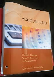 accounting revised custom edition for foothill college harrison