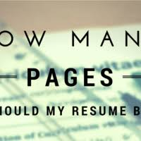 How Many Pages Does A Resume Have To Be Beautiful How Many Pages Resume Ideas Simple Resume Office