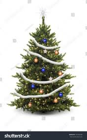 tree decorated ornaments stock photo 747594244