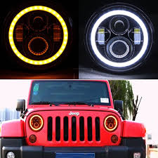 jeep headlights halo led y accesorios jeep wrangler led u0026 angel eyes chile