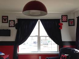 Mickey And Minnie Window Curtains by Ej U0027s Mickey Mouse Suite Red Light Fixture Mickey Mouse Wall