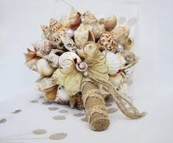 wedding bouquets with seashells seashell wedding bouquets