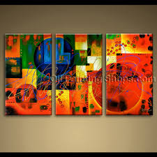 Oversized Wall Art by Large Wall Art Colorful Abstract Oil Painting On Canvas Modern Framed