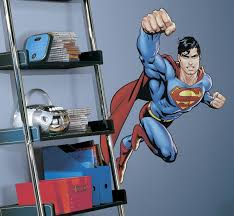 superman room accent super man day of doom boys wall accent mural