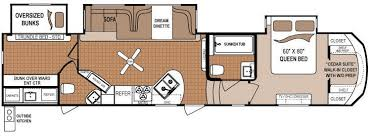 Small Rv Floor Plans Travel Trailers And Fifth Wheels Floorplans Komfort Travel
