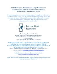 What Is An Intent Letter by Prince William Chamber Of Commerce Potomac Health Foundation
