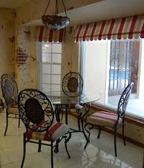 amusing window treatment sets come with red and white stripes