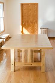 hand made hard maple dining table by joshua white fine furniture