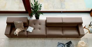 Gamma Leather Sofa by Modular Sofa Contemporary Leather 3 Seater Hugo Gamma