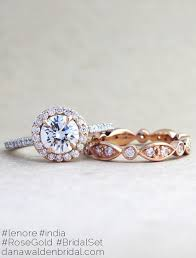 gold wedding rings lenore gold platinum diamond halo in mixed metal