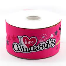 ribbon for hair that says gymnastics midi ribbon 3 75mm wide 50 yards roll i love gymnastics print