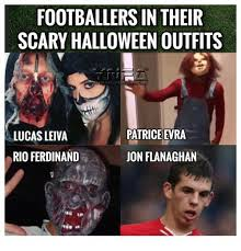Patrice Meme - footballers in their scary halloween outfits lucas leiva patrice