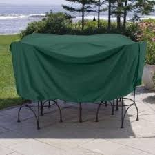 Patio Dining Set Cover Vinyl Patio Furniture Covers Foter