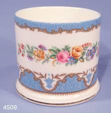 willow pattern jam pot crown staffordshire tunis vintage bone china jam pot pencil pot