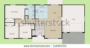 bi level house floor plans split level house floor plan colored stock illustration 112905724