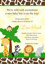 baby shower invites free templates safari baby shower invitations templates free invitations ideas