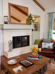 and tv living rustic farmhouse fireplace decor room traditional