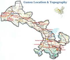 Physical Map Of China by Gansu Topographic Map Gansu Physical Map