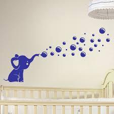 stickers elephant chambre bébé sticker petit éléphant soufflant des bulles stickers animaux
