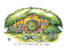 hobbit hole hobbit hole drawing by billi french