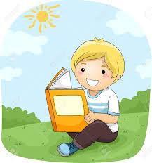 imagenes de archivo libres de derechos ilustración de un niño leyendo un libro al aire libre fotos