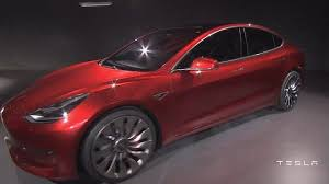 tesla reveals model 3 electric car bbc news