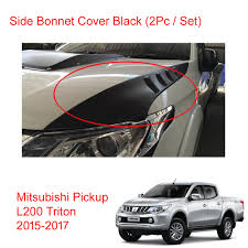mitsubishi l200 2015 side bonnet scoop cover matt black for mitsubishi l200 new triton