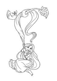coloring pages disney princesses tangled