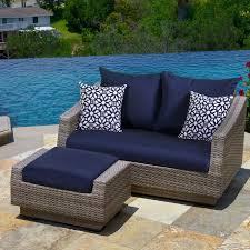 wade logan alfonso loveseat and ottoman with cushions u0026 reviews