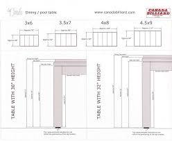 Pool Table Dimensions by F G Bradley U0027s Pool Tables Darts Poker Bar Stools U0026 Game Tables