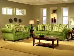 Brown Living Room Ideas by Decorating With Green Sofa