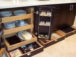 Kitchen Pull Out Cabinets Shop Pull Out Trash Cans At Lowes Inside Elegant Pull Out Drawers