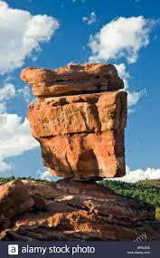 balanced rock garden of the gods national natural landmark stock