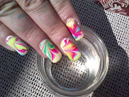 water marbling 3 min nail art tutorial tie dye nails by fonda