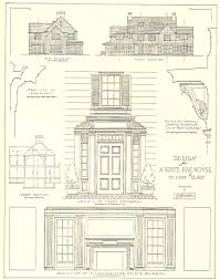1917 architectural design for a white pine house costing 12 500