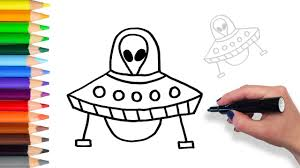 learn how to draw ufo teach drawing for kids and toddlers