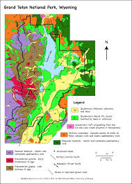grand teton national park geologic map of grand teton national park wyoming