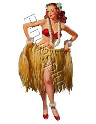 Hawaiian Halloween Costume Hula Hawaiian Ukulele Tiki Waterslide Decal S846 S846