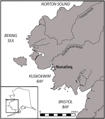 Barrow Alaska Map by Map Of Western Alaska Showing The Location Of The Nunalleq