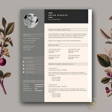 fashion resume templates resume template and cover letter for word pages 3 page
