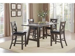 homelegance dining room counter height table oak veneer brown