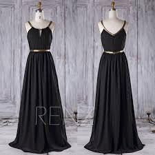 2016 black chiffon bridesmaid dress long a line wedding dress